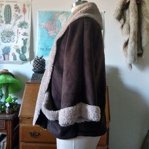 Jolt Jackets & Coats - Faux Suede & Fur Crop coat by Jolt